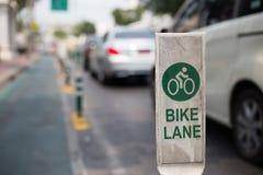 Vicolo della bici nel banghkok Fotografie Stock