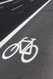 Vicolo della bici sulla strada Immagine Stock Libera da Diritti