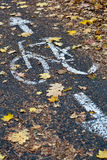 Vicolo della bici in una città Immagini Stock