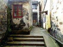 Vicolo della città antica di Tongli Fotografie Stock Libere da Diritti
