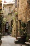 Vicolo della Toscana fotografia stock