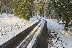 Vicolo dello Snowy Immagine Stock