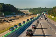 Vicolo deviato dell'autostrada senza pedaggio Immagini Stock
