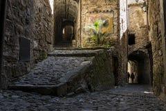 Vicolo di Apricale Italia fotografia stock libera da diritti