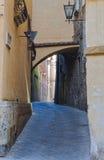 Vicolo di bobina - Siena Fotografia Stock
