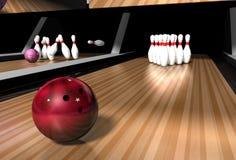Vicolo di bowling Fotografia Stock