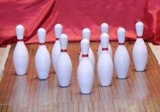 Vicolo di bowling. Fotografia Stock