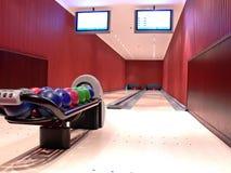 Vicolo di bowling moderno Immagini Stock