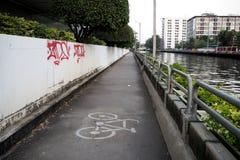 Vicolo di Bycycle Fotografie Stock Libere da Diritti