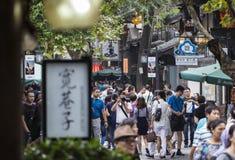 Vicolo di Chengdu Kuanzhai fotografie stock