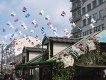 Vicolo di Kamergersky della decorazione, Mosca fotografie stock libere da diritti