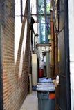 Vicolo di New York fra le costruzioni Immagini Stock Libere da Diritti