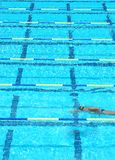 Vicolo di nuoto fotografie stock libere da diritti
