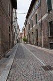 Vicolo di Piacenza. L'Emilia Romagna. L'Italia. Fotografia Stock Libera da Diritti