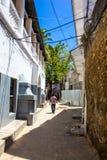 Vicolo di pietra della città Fotografia Stock Libera da Diritti