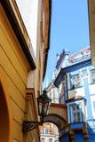 Vicolo di Praga - centro storico di Praga Immagine Stock