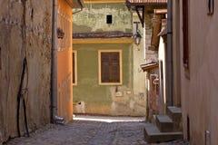 Vicolo di Sighisoara Fotografie Stock