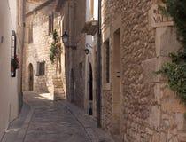 Vicolo di Sitges fotografia stock libera da diritti