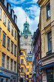 Vicolo di Stoccolma Svezia Fotografie Stock