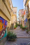 Vicolo. Diamante. La Calabria. L'Italia. Immagine Stock Libera da Diritti