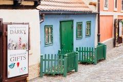 Vicolo dorato a Praga fotografia stock libera da diritti