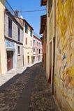 Vicolo. Dozza. L'Emilia Romagna. L'Italia. Fotografia Stock