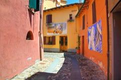 Vicolo. Dozza. L'Emilia Romagna. L'Italia. Immagine Stock