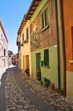 Vicolo. Dozza. L'Emilia Romagna. L'Italia. Fotografie Stock