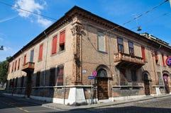 Vicolo. Ferrara. L'Emilia Romagna. L'Italia. Immagini Stock Libere da Diritti