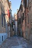 Vicolo. Ferrara. L'Emilia Romagna. L'Italia. Immagine Stock Libera da Diritti