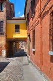 Vicolo. Ferrara. L'Emilia Romagna. L'Italia. Fotografie Stock Libere da Diritti