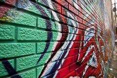 Vicolo graffitied Grungy fotografia stock libera da diritti