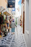 Vicolo greco Fotografia Stock Libera da Diritti