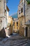 Vicolo. Maratea. La Basilicata. L'Italia. Fotografia Stock Libera da Diritti