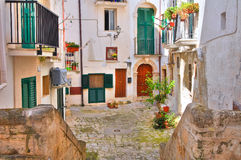 Vicolo. Monopoli. La Puglia. L'Italia. Immagini Stock