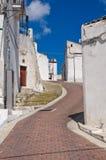 Vicolo. Monte Sant ' Angelo. La Puglia. L'Italia. Fotografia Stock