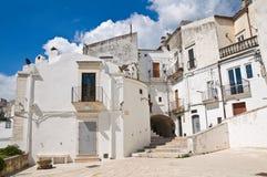 Vicolo. Monte Sant ' Angelo. La Puglia. L'Italia. Immagini Stock