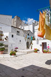 Vicolo. Monte Sant ' Angelo. La Puglia. L'Italia. Immagini Stock Libere da Diritti