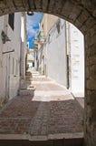 Vicolo. Monte Sant ' Angelo. La Puglia. L'Italia. Fotografia Stock Libera da Diritti