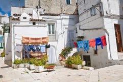 Vicolo. Monte Sant ' Angelo. La Puglia. L'Italia. Immagine Stock