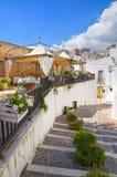 Vicolo. Monte Sant ' Angelo. La Puglia. L'Italia. Immagine Stock Libera da Diritti