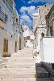 Vicolo. Monte Sant ' Angelo. La Puglia. L'Italia. Fotografie Stock Libere da Diritti