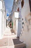 Vicolo. Monte Sant ' Angelo. La Puglia. L'Italia. Fotografie Stock