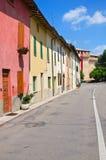 Vicolo. Montechiarugolo. L'Emilia Romagna. L'Italia. Immagine Stock Libera da Diritti