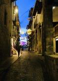 Vicolo a Morella Spagna Fotografia Stock Libera da Diritti