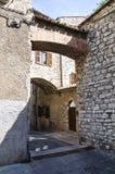 Vicolo. Narni. L'Umbria. L'Italia. Fotografia Stock