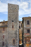 Vicolo. Narni. L'Umbria. L'Italia. Immagine Stock Libera da Diritti