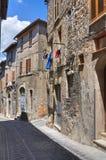 Vicolo. Narni. L'Umbria. L'Italia. Fotografia Stock Libera da Diritti