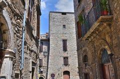 Vicolo. Narni. L'Umbria. L'Italia. Fotografie Stock Libere da Diritti