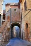 Vicolo. Narni. L'Umbria. L'Italia. Fotografie Stock